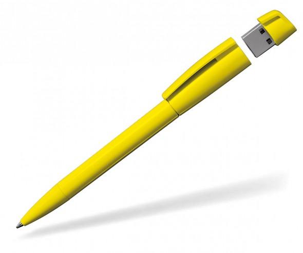 USB Werbekugelschreiber Klio Turnus R gelb