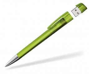 Kugelschreiber mit USB-Stick Klio Turnus M PTR hellgrün