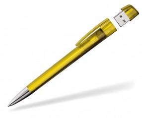 Kugelschreiber mit USB-Stick Klio Turnus M RTR gelb