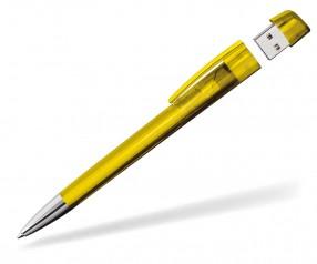 Kugelschreiber mit USB-Stick Klio Turnus M STR sonnengelb