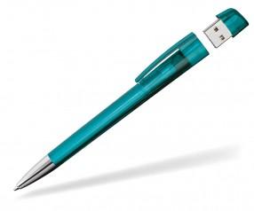 USB-Kugelschreiber Klio Turnus M TTR türkis