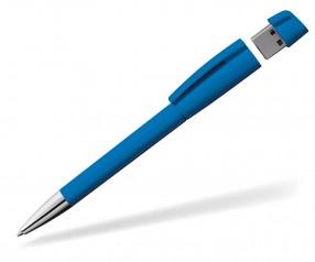 USB-Kugelschreiber Klio Turnus M F hellblau