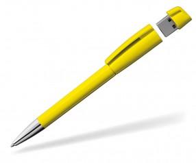 USB Werbekugelschreiber Klio Turnus M R gelb
