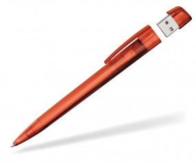 USB-Kugelschreiber Klio Turnus HTR orangerot