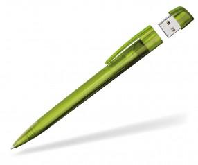 Kugelschreiber mit USB-Stick Klio Turnus PTR hellgrün