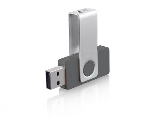USB-Stick Klio Twista-M ECR4YY anthrazit 4 GB oder 8GB