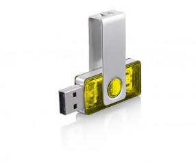 USB-Stick Klio Twista-M ECR4RTR gelb 4GB 8GB