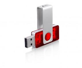 USB-Stick Klio Twista-M ECR4HTR rot 4GB 8GB