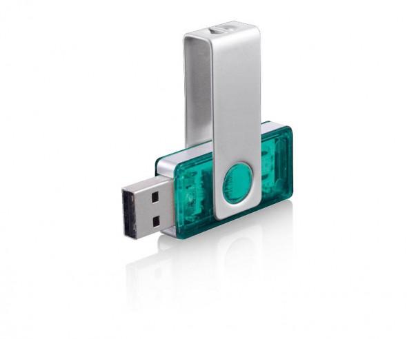 USB-Stick Klio Twista-M ECR4TTR türkis 4GB 8GB