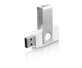 USB-Stick Klio Twista-M ECR4UU weiss 4GB 8GB