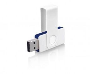 USB-Stick Klio Twista UUD weiss dunkelblau 4GB 8GB