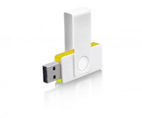 USB-Stick Klio Twista UUR weiss gelb 4GB 8GB