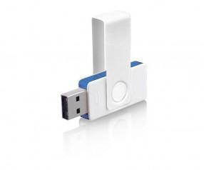 USB-Stick Klio Twista UUF weiss hellblau 4GB 8GB