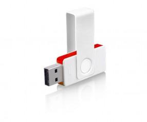USB-Stick Klio Twista UUH weiss rot 4 GB 8 GB