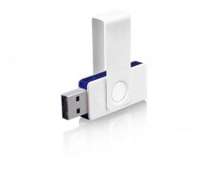USB-Stick Klio Twista UUDTR weiss dunkelblau 4GB 8GB