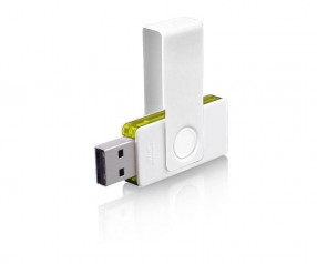 USB-Stick Klio Twista UURTR weiss gelb 4GB 8GB