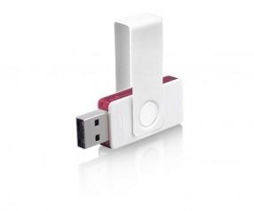 USB-Stick Klio Twista UUTVTR weiss pink 4GB 8GB