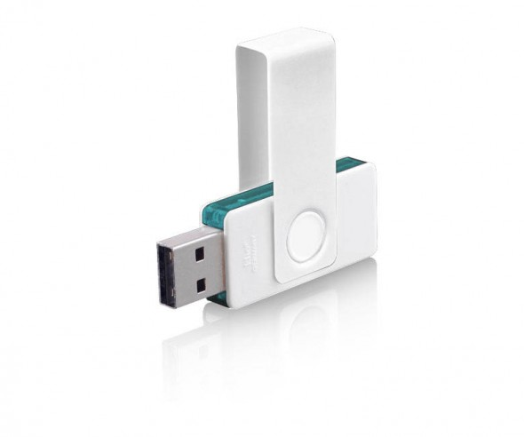 USB-Stick Klio Twista UUTTR weiss türkis 4GB 8GB