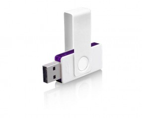 Design USB-Stick Klio Twista UUVTR1 weiss violett 4GB 8GB