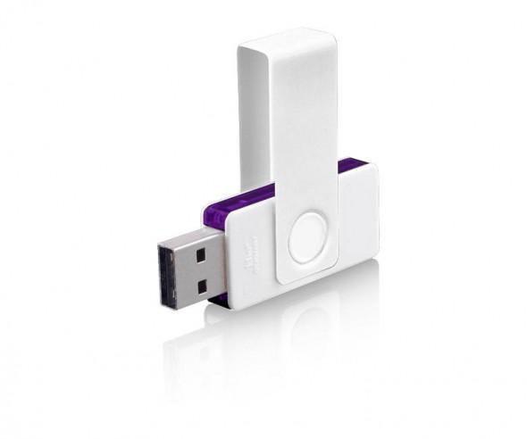 Design USB-Stick Klio Twista UUVTR1 weiss violett 4GB 8GB