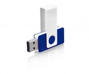 USB-Stick Klio Twista UDU weiss dunkelblau 4GB 8GB