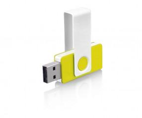 USB-Stick Klio Twista URU weiss gelb 4GB 8GB