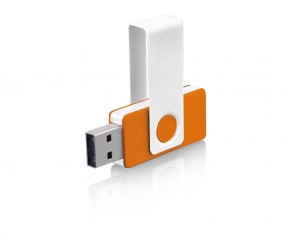 USB-Stick Klio Twista UWU weiss orange 4GB 8GB