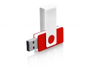 USB-Stick Klio Twista UHU weiss rot 4 GB 8 GB
