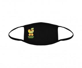 Goldstar Vollfarbige Urban Antimikrobielle Maske 2-lagig Baumwolle VEN-OPT-HUXDG schwarz