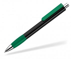 UMA Kugelschreiber PUSH grip 0-0118 KT SI schwarz dunkelgrün