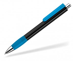 UMA Kugelschreiber PUSH grip 0-0118 KT SI schwarz hellblau