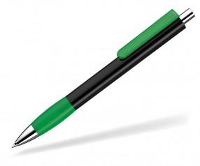 UMA Kugelschreiber PUSH grip 0-0118 KT SI schwarz hellgrün