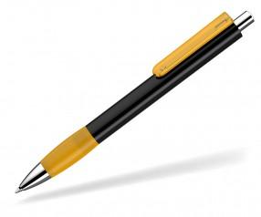 UMA Kugelschreiber PUSH grip 0-0118 KT SI schwarz ocker