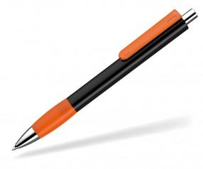UMA Kugelschreiber PUSH grip 0-0118 KT SI schwarz orange