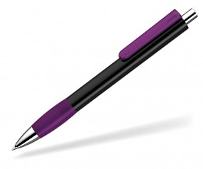 UMA Kugelschreiber PUSH grip 0-0118 KT SI schwarz violett