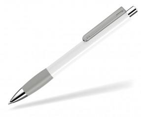 UMA Kugelschreiber PUSH grip 00118 KT SI weiss anthrazit