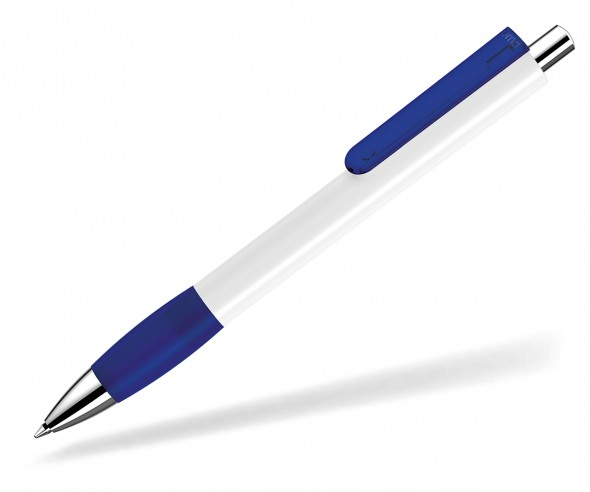 UMA Kugelschreiber PUSH grip 00118 KT SI weiss dunkelblau