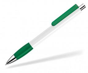 UMA Kugelschreiber PUSH grip 00118 KT SI weiss dunkelgrün