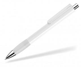 UMA Kugelschreiber PUSH grip 00118 KT SI weiss klar