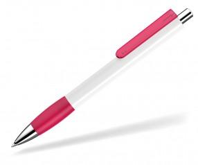 UMA Kugelschreiber PUSH grip 00118 KT SI weiss magenta