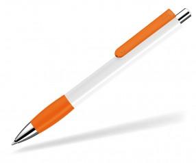 UMA Kugelschreiber PUSH grip 00118 KT SI weiss orange