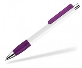 UMA Kugelschreiber PUSH grip 00118 KT SI weiss violett