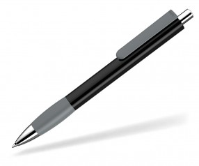 UMA Kugelschreiber PUSH grip 0-0118 SI schwarz grau