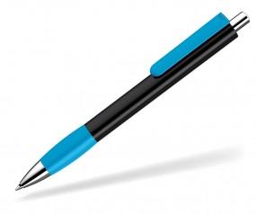 UMA Kugelschreiber PUSH grip 0-0118 SI schwarz hellblau