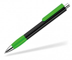 UMA Kugelschreiber PUSH grip 0-0118 SI schwarz hellgrün