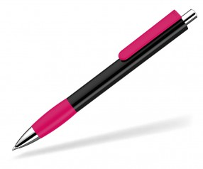 UMA Kugelschreiber PUSH grip 0-0118 SI schwarz magenta