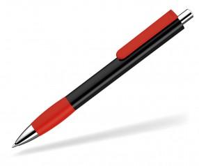 UMA Kugelschreiber PUSH grip 0-0118 SI schwarz rot
