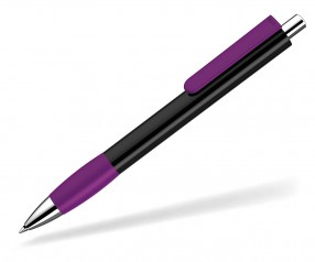 UMA Kugelschreiber PUSH grip 0-0118 SI schwarz violett