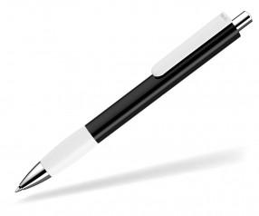 UMA Kugelschreiber PUSH grip 0-0118 SI schwarz weiss
