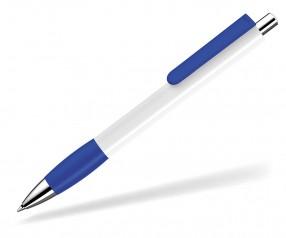 UMA Kugelschreiber PUSH grip 0-0118 SI weiss dunkelblau